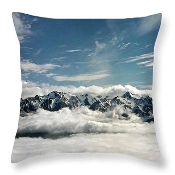 Throw Pillow featuring the photograph Mt Olympus by Greg Reed