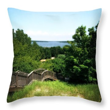 Mt. Pisgah Dune Boardwalk Throw Pillow