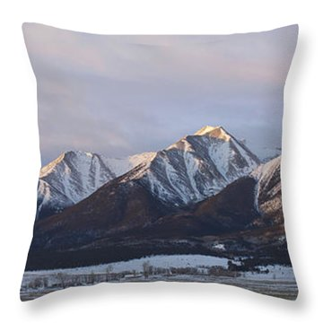 Mt. Princeton Panorama Throw Pillow