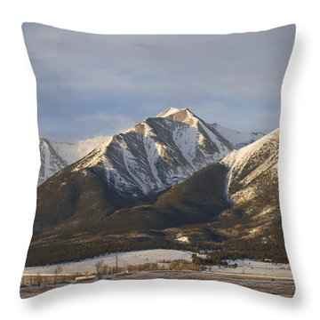 Mt. Princeton Sunrise Throw Pillow