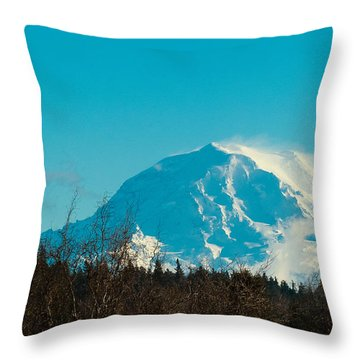 Mt Raineer Washington Throw Pillow by Ron Roberts