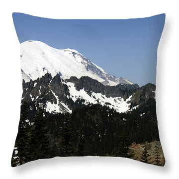 Mt Rainer From Wa-410 Throw Pillow