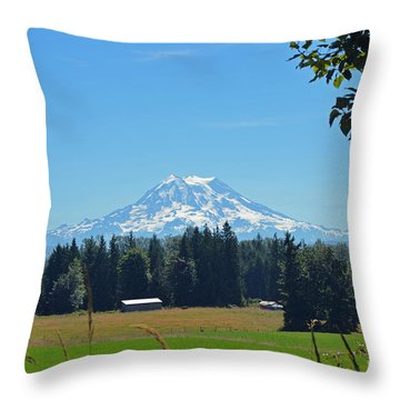 Mt. Rainier From The Western Side Throw Pillow