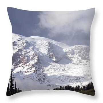 Throw Pillow featuring the photograph Mt Rainier  by Greg Reed