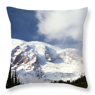 Mt Rainier II Throw Pillow