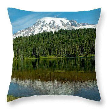 Throw Pillow featuring the photograph Mt. Rainier II by Tikvah's Hope