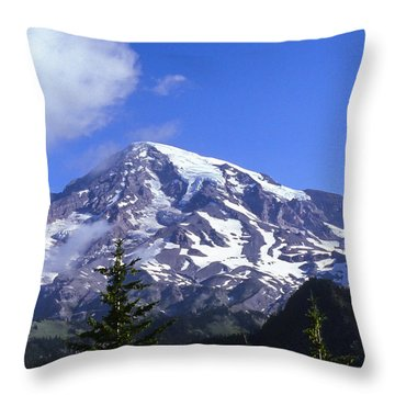 Mt. Rainier Throw Pillow