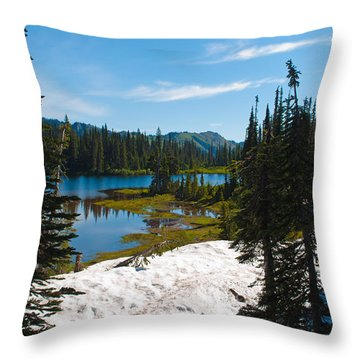 Throw Pillow featuring the photograph Mt. Rainier Wilderness by Tikvah's Hope