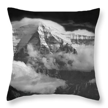 102496-mt. Robson Wreathed In Clouds Throw Pillow