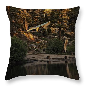 Mt Rose At Galena Pond Throw Pillow