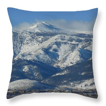 Mt Rose Reno Nevada Throw Pillow by Dan Whittemore