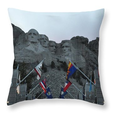 Mt. Rushmore In The Evening Throw Pillow
