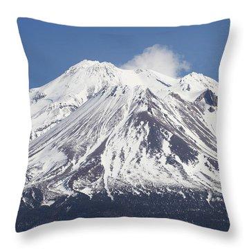 Mt Shasta California Throw Pillow by Tom Janca
