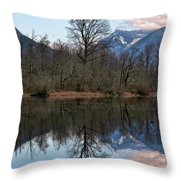 Mt Si From Mill Pond 3 Throw Pillow