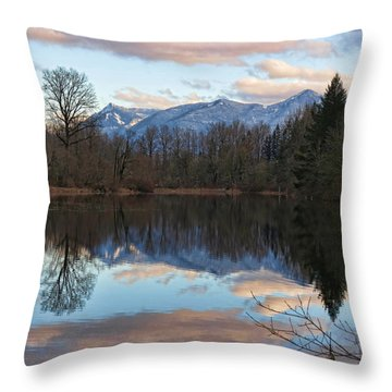 Mt Si From Mill Pond 4 Throw Pillow