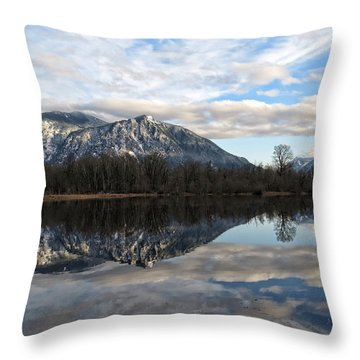 Mt Si From Mill Pond I Throw Pillow