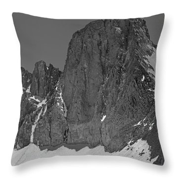 406427-mt. Sill, Bw Throw Pillow