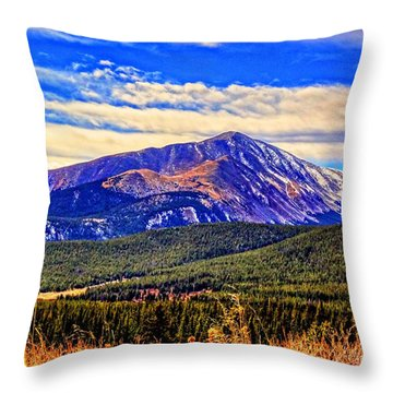 Throw Pillow featuring the photograph Mt. Silverheels II by Lanita Williams