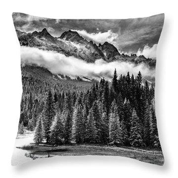 Mt Sneffels Throw Pillow