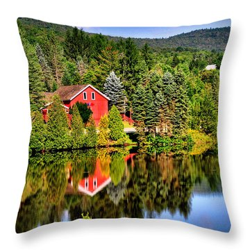 Mt. Snow In Summer Throw Pillow