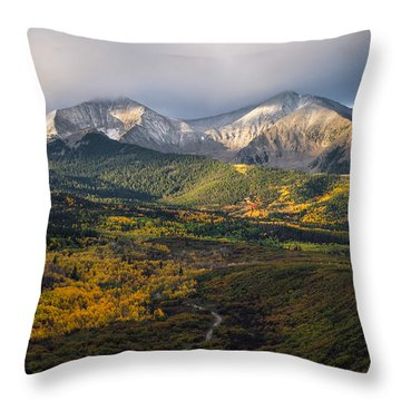 Throw Pillow featuring the photograph Mt. Sopris by Aaron Spong