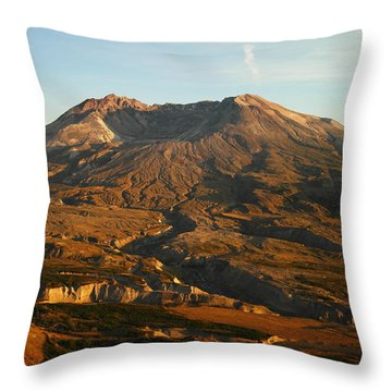 Mt St Helens From Johnsons Observatory Throw Pillow by Jeff Swan