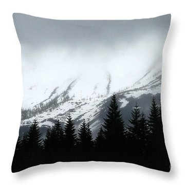 Mt St Helens........a Looming Storm Throw Pillow