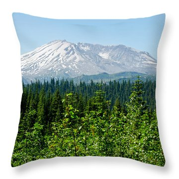 Mt. St. Hellens Throw Pillow by Tikvah's Hope