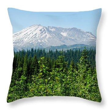 Mt. St. Hellens Throw Pillow