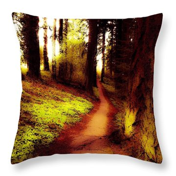 Mt Tabor Park Portland  Throw Pillow