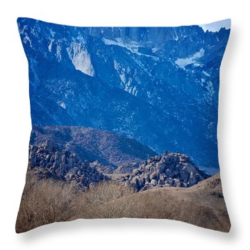 Mt. Whitney And Alabama Hills Throw Pillow