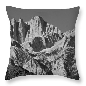 Mt. Whitney In Black And White Throw Pillow
