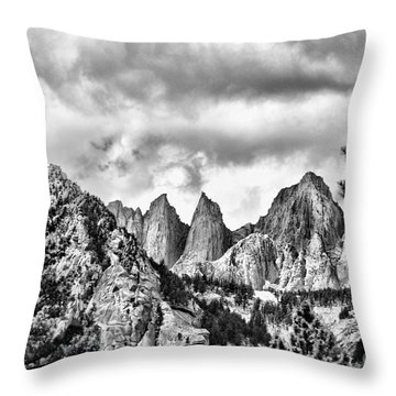 Mt. Whitney Throw Pillow by Peggy Hughes