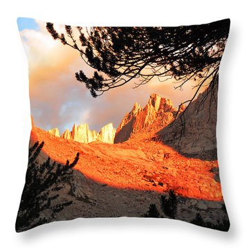 Throw Pillow featuring the photograph Mt. Whitney Sunrise by Alan Socolik