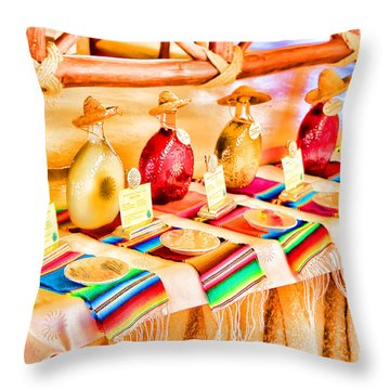 Mucho Tequila Throw Pillow by Teresa Zieba