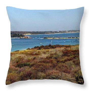 Mudeford Harbour Throw Pillow
