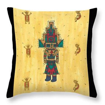 Mudhead Kachina Doll Throw Pillow