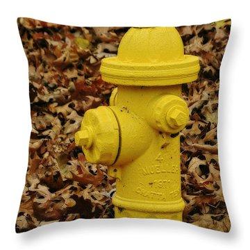 Mueller Fire Hydrant Throw Pillow