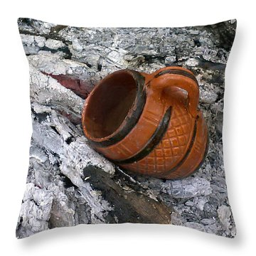 Throw Pillow featuring the photograph Mug To Mug Dust To Dust by Steve Sperry