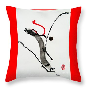 Throw Pillow featuring the painting Muga No Genri Ni by Roberto Prusso