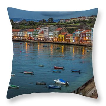 Mugardos Panorama Galicia Spain Throw Pillow