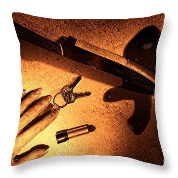 Mugging Throw Pillow by Olivier Le Queinec