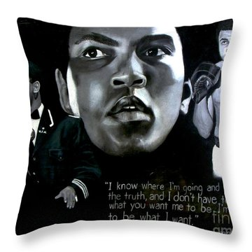 Muhammad Ali Throw Pillow
