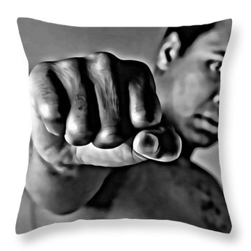 Muhammad Ali Fist Throw Pillow