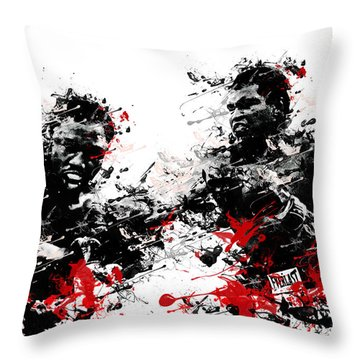 Muhammad Ali Throw Pillow by Bekim Art