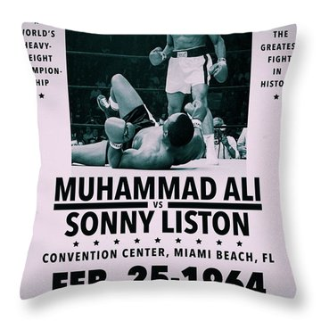 Muhammad Ali Poster Throw Pillow by Dan Sproul