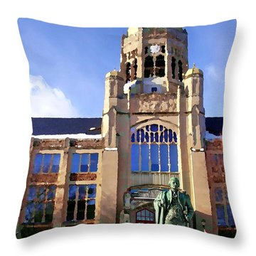 Abstract - Haas Center Throw Pillow by Jacqueline M Lewis