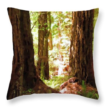 Muir Woods Throw Pillow