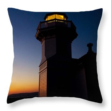 Throw Pillow featuring the photograph Mukilteo Light House Sunset by Sonya Lang