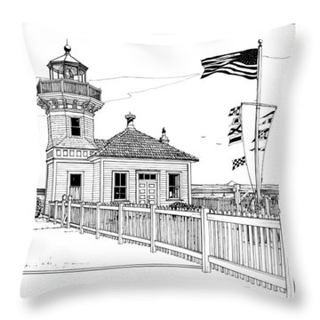 Mukilteo Light Throw Pillow